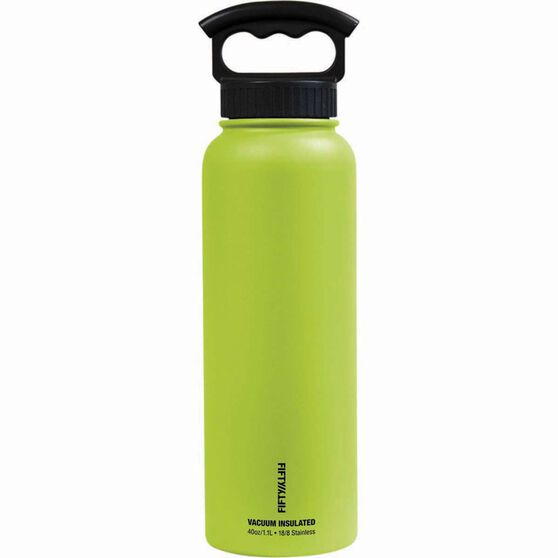 Fifty Fifty Insulated Drink Bottle 1.1L Lime, Lime, bcf_hi-res