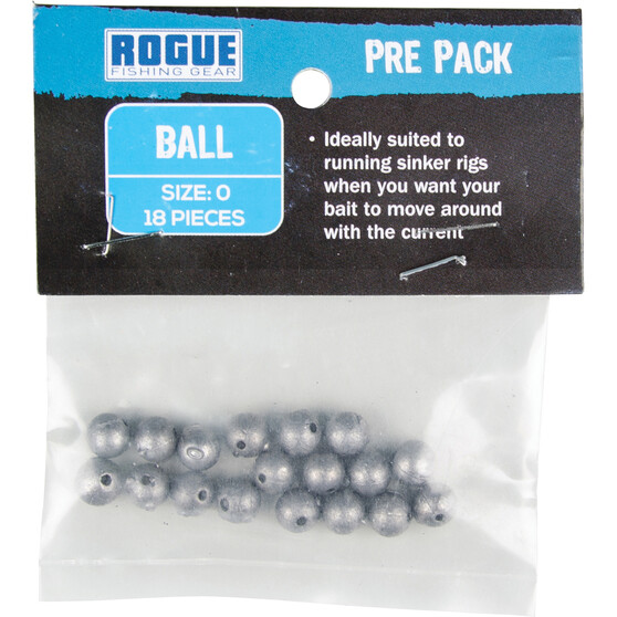 Rogue Pre Packed Ball Sinker Size 0 18 Pack, , bcf_hi-res