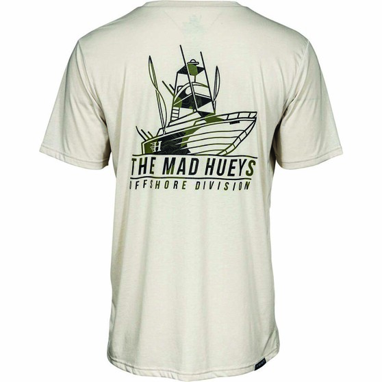 The Mad Hueys Men's Offshore Camo Short Sleeve UV Tee, Cement, bcf_hi-res