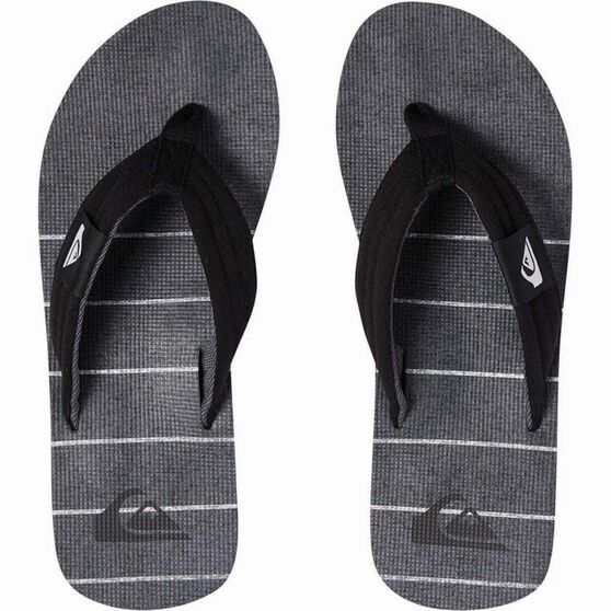 Quiksilver Men's Molokai Layback Thongs, Black / Grey, bcf_hi-res