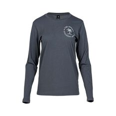 Tide Apparel Women's Island Long Sleeve Tee Charcoal 8, Charcoal, bcf_hi-res