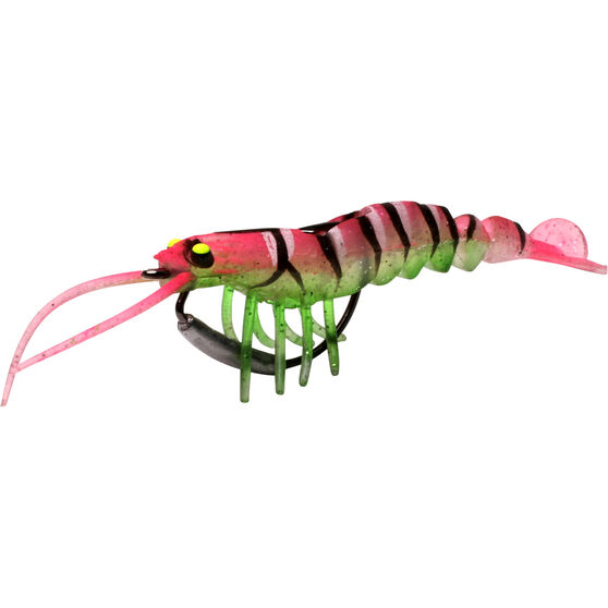 Savage 3D Shrimp Soft Plastic Lure 3.5in Nuclear Chicken, Nuclear Chicken, bcf_hi-res