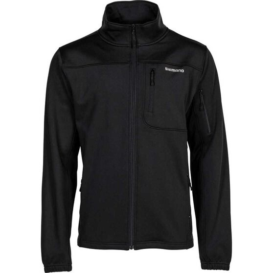 Shimano Men's Marlin Soft-Shell Jacket, Black, bcf_hi-res