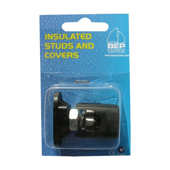 BEP Single Insulated 6mm Stud With Black Cover, , bcf_hi-res