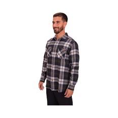 Macpac Men's Porters Organic Shirt, Moonbeam / Peat, bcf_hi-res