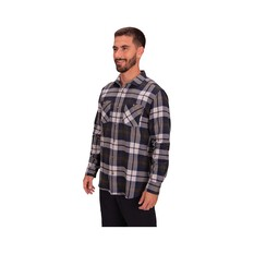 Macpac Men's Porters Organic Shirt Moonbeam / Peat S, Moonbeam / Peat, bcf_hi-res
