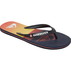 Quiksilver Men's Molokai Slab Thongs Black / Orange 8, , bcf_hi-res