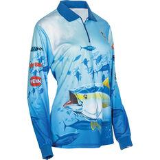 BCF Women's Tuna Sublimated Polo Blue 8, Blue, bcf_hi-res
