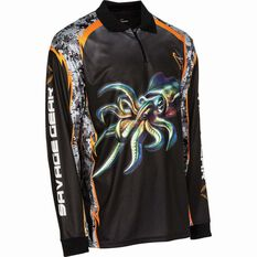 Savage Men's Squid Sublimated Polo Black S, Black, bcf_hi-res