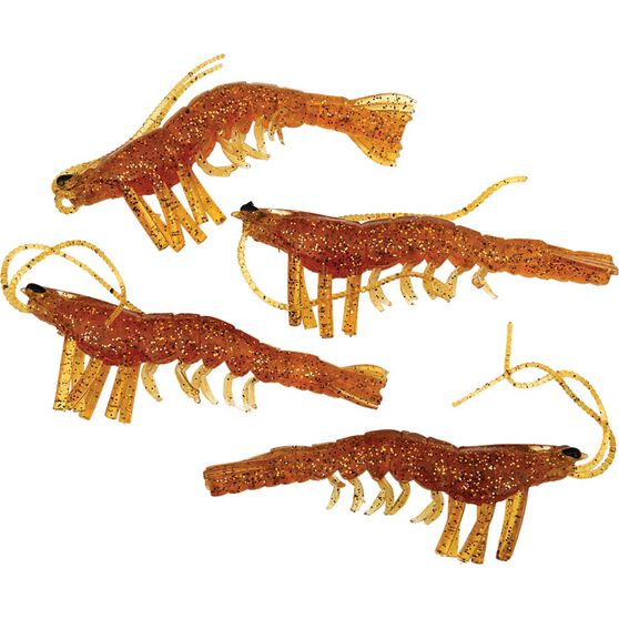 Savage Manic Shrimp Soft Plastic Lure 2in Golden, Golden, bcf_hi-res