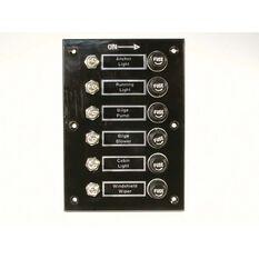 BEP Switch Panel 6 Gang Bakelite, , bcf_hi-res