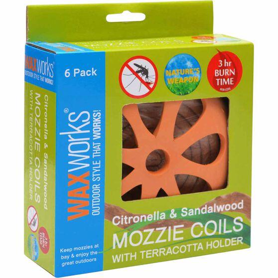 Waxworks Citronella and Sandalwood Coils 6 Pack, , bcf_hi-res