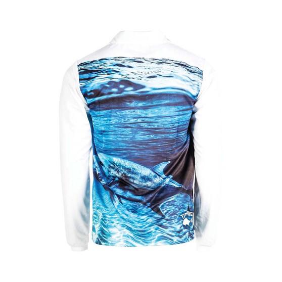 Tide Apparel Mens Aerial Sublimated Fishing Jersey, Blue / Multi, bcf_hi-res