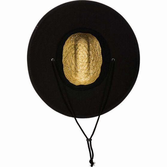 BCF Threads Men's Classic Straw Hat, Natural / Black, bcf_hi-res