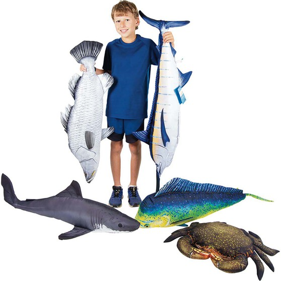 Gaby Fish Pillow Barramundi 100cm, , bcf_hi-res