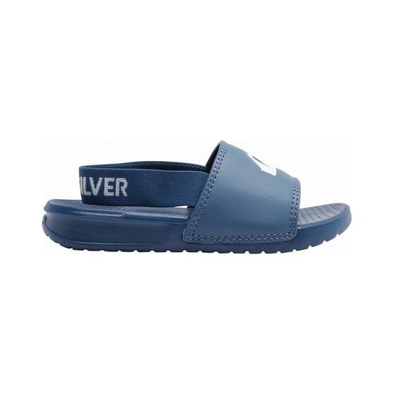 Quiksilver Kids Bright Coast Adjust Backstrap Slide, Blue / White, bcf_hi-res