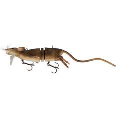 Savage 3D Rad Rat Surface Lure 30cm Brown, Brown, bcf_hi-res