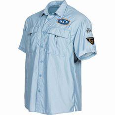 BCF Short Sleeve Fishing Shirt Spray S, Spray, bcf_hi-res