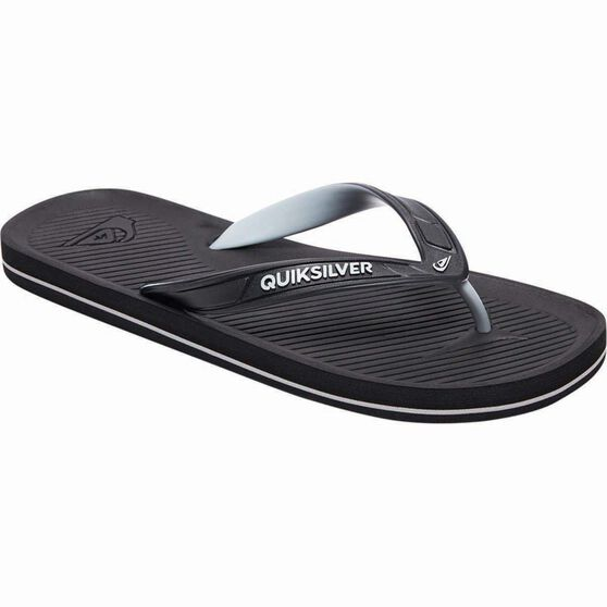 Quiksilver Men's Haleiwa II Thongs, Black / Grey, bcf_hi-res