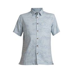 Quiksilver Waterman Men's Les Surge Shirt Dusty Blue S, Dusty Blue, bcf_hi-res