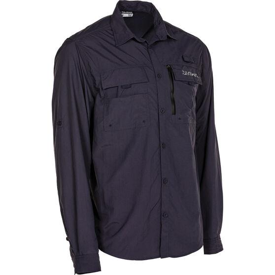 Daiwa Men's Long Sleeve Fishing Shirt, Graphite, bcf_hi-res