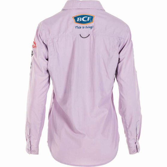 BCF Women's Long Sleeve Fishing Shirt Orchid / Purple 16, Orchid / Purple, bcf_hi-res