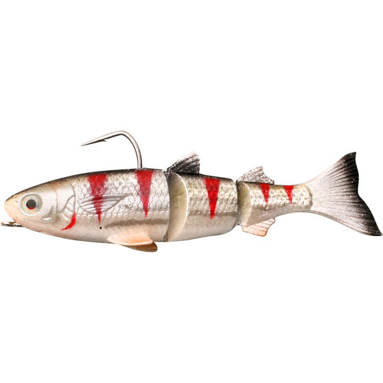 Savage Jointed Mullet Sinking Hard Body Lure 130mm Bleeding Mullet, Bleeding Mullet, bcf_hi-res