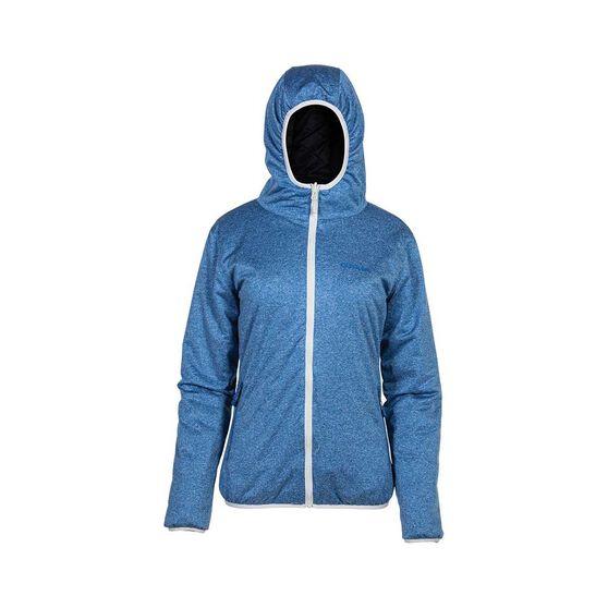 OUTRAK Reversible Puffer Jacket - Womens, Black/Blue, 8, Black / Blue, bcf_hi-res