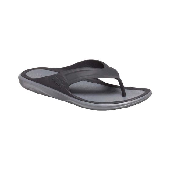 Crocs Swiftwater Wave Men's Flip, Black / Slate Grey, bcf_hi-res
