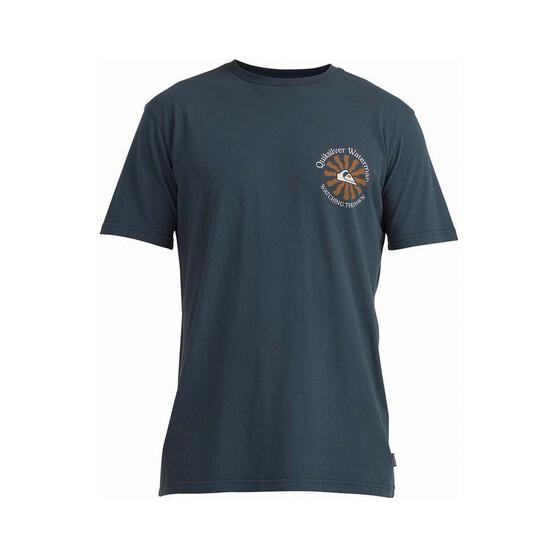Quiksilver Waterman Men's Sunrise Short Sleeve Tee, Midnight Navy, bcf_hi-res