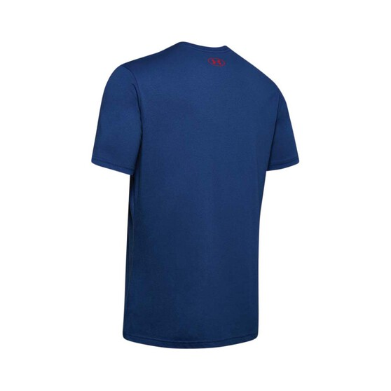 Under Armour Men's Fish Hook Tee, Blue / Red, bcf_hi-res