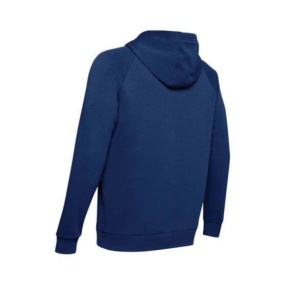 Under Armour Men's Rival Fleece Logo Hoodie, Blue, bcf_hi-res