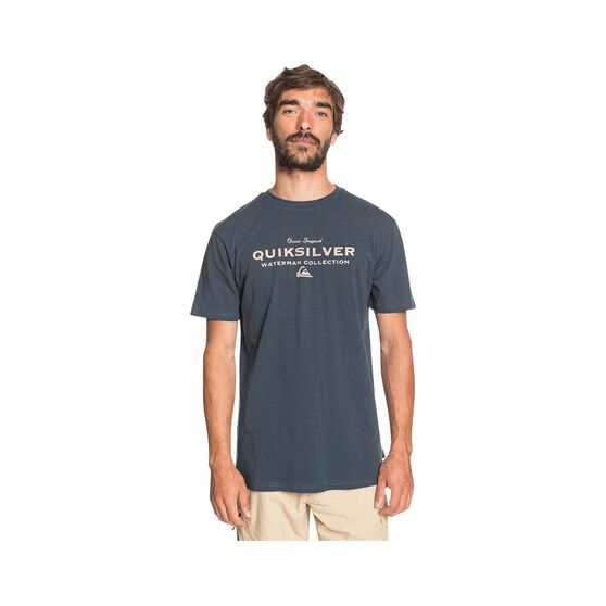 Quiksilver Waterman Men's Sea Mist Tee, Midnight Blue, bcf_hi-res