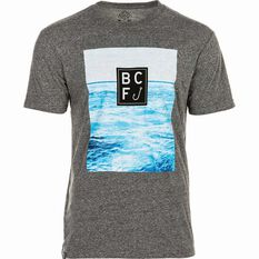 BCF THREADS Men's Riptide Tee Grey S Men's, Grey, bcf_hi-res