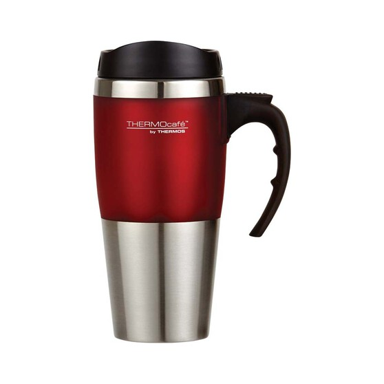 Thermos Thermocafe Travel Mug 450ml Red, Red, bcf_hi-res