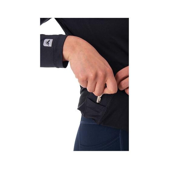 Macpac Women's Eyre Long Sleeve Tee, Black, bcf_hi-res