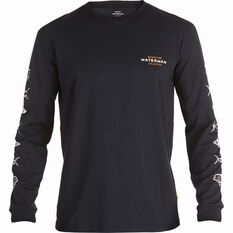 Quiksilver Waterman Aztec Long Sleeve Tee Black S, Black, bcf_hi-res
