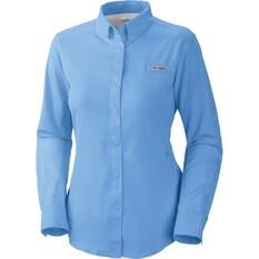 Columbia Women's Tamiami II Long Sleeve Shirt White Cap 2XL, White Cap, bcf_hi-res