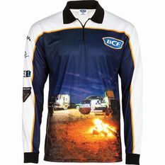 BCF Men's Camp Sublimated Polo Orange S, Orange, bcf_hi-res