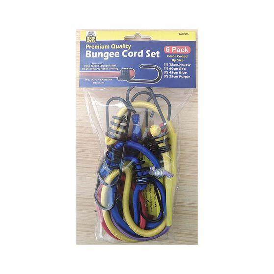 Gripwell Metal Hook Bungee Cord - 6 Pack, , bcf_hi-res