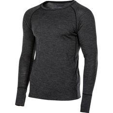 OUTRAK Men's Merino Long Sleeve Top, Charcoal Marle, bcf_hi-res
