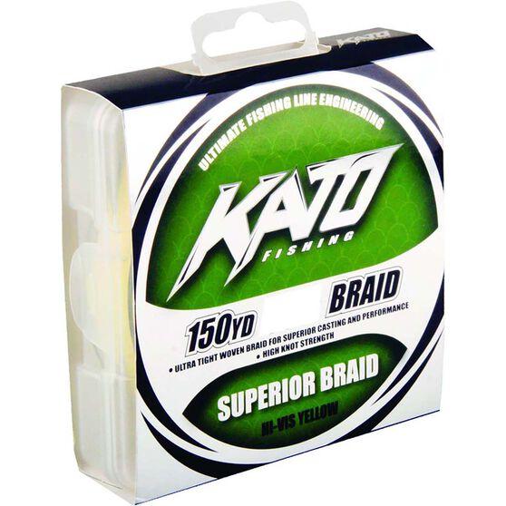 Kato Braid Line 150yds Yellow 150yds 15lb, Yellow, bcf_hi-res