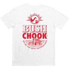Bush Chook Men's Bush Stamp 2 Tee, White, bcf_hi-res