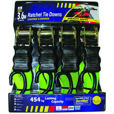 Gripwell Ratchet Tie Down - 3.6m, 454kg, 4 Pack, , bcf_hi-res