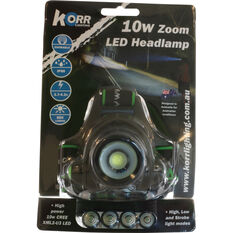 Korr Cree LED Zoom Headlamp 10W, , bcf_hi-res