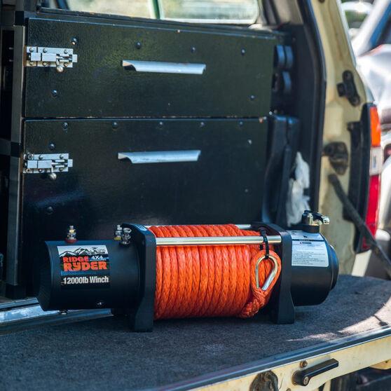Ridge Ryder Electric Winch - 12V, 12000lb, , bcf_hi-res