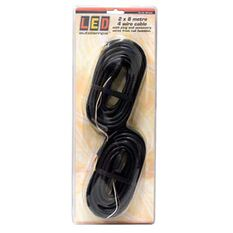 LED Autolamps 4 Core Trailer Light Cable 2x8m, , bcf_hi-res