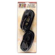 LED Autolamps 4 Core Trailer Light Cable 2x8m, , bcf_hi-res