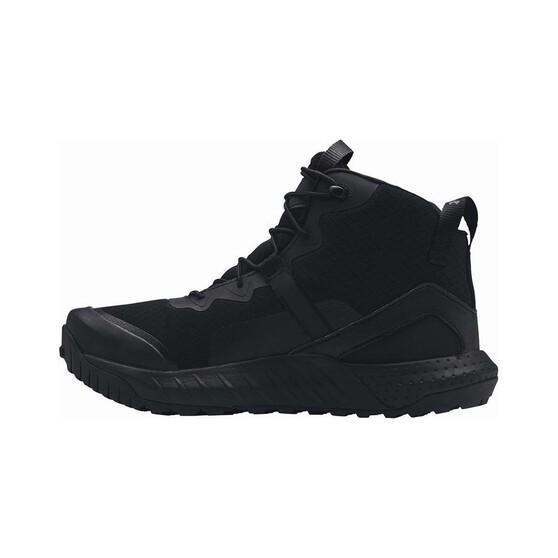 Under Armour Men's Valsetz Mid Hiking Boot Black 8, Black, bcf_hi-res