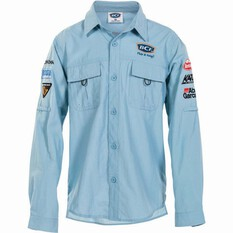 BCF Kids' Long Sleeve Fishing Shirt Spray 6, Spray, bcf_hi-res